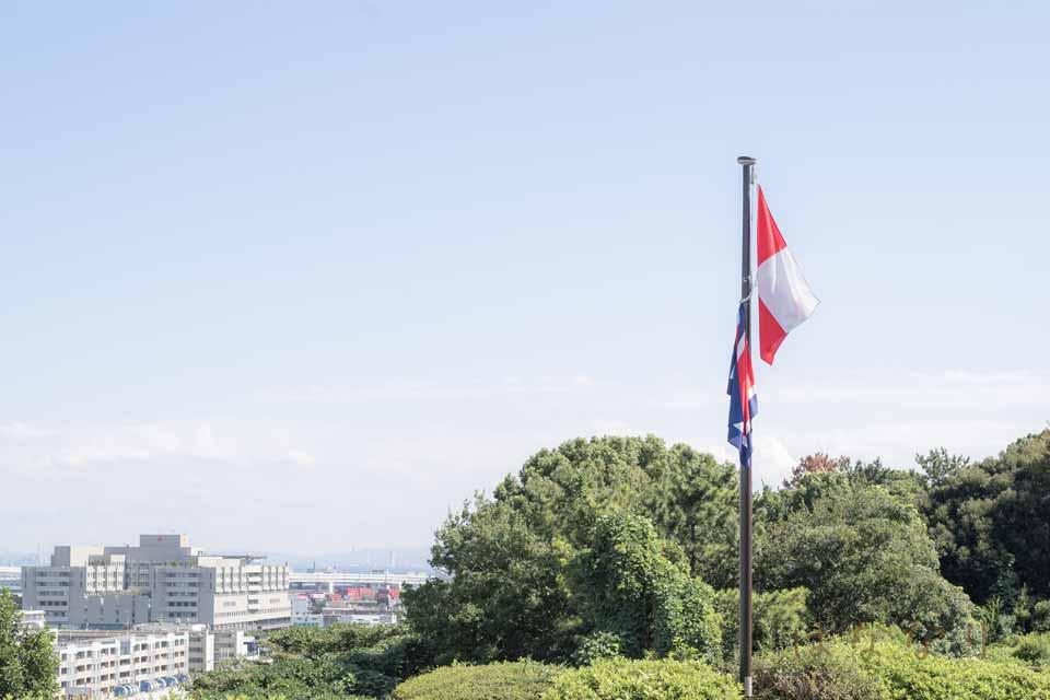 港の見える公園にある「コクリコ坂から」記念スポット